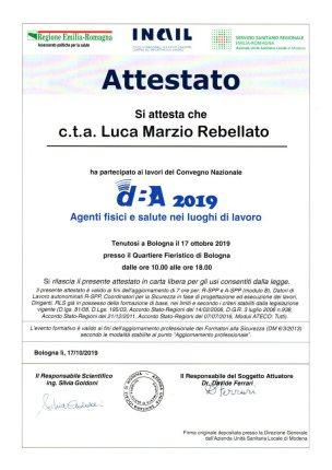 ttestato Convegno Nazionale dBA 2016 Bologna